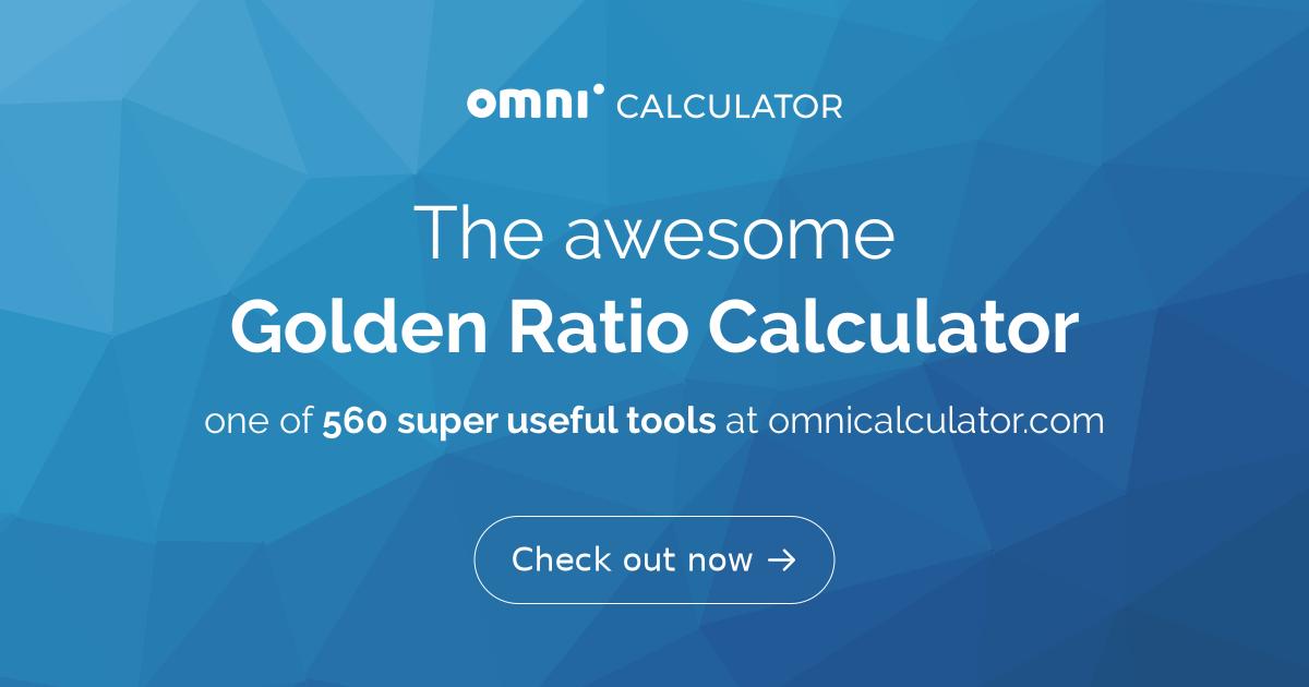 Golden Ratio Calculator - Omni