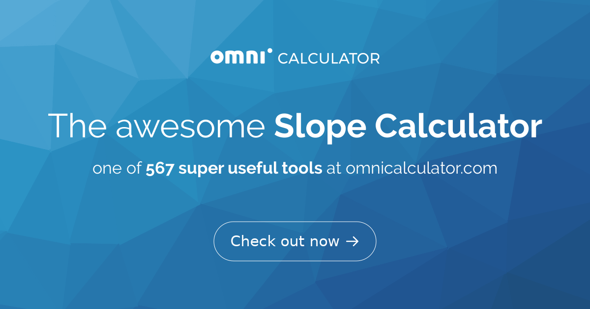 Slope Calculator - Omni