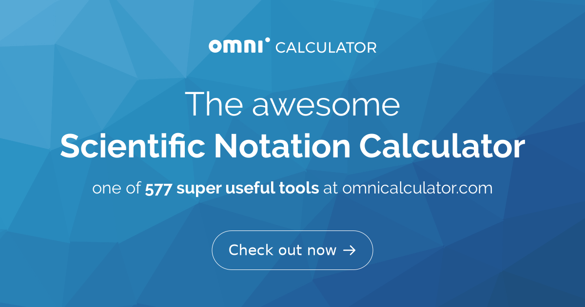 Scientific Notation Calculator Omni