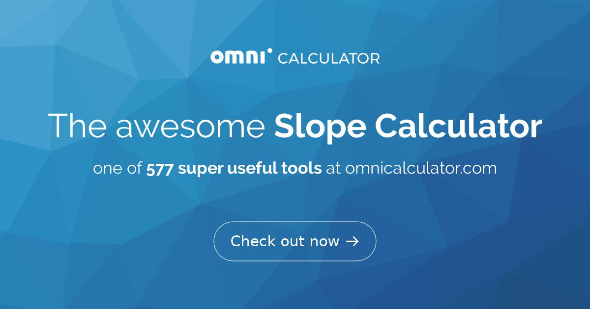 Slope Calculator Omni