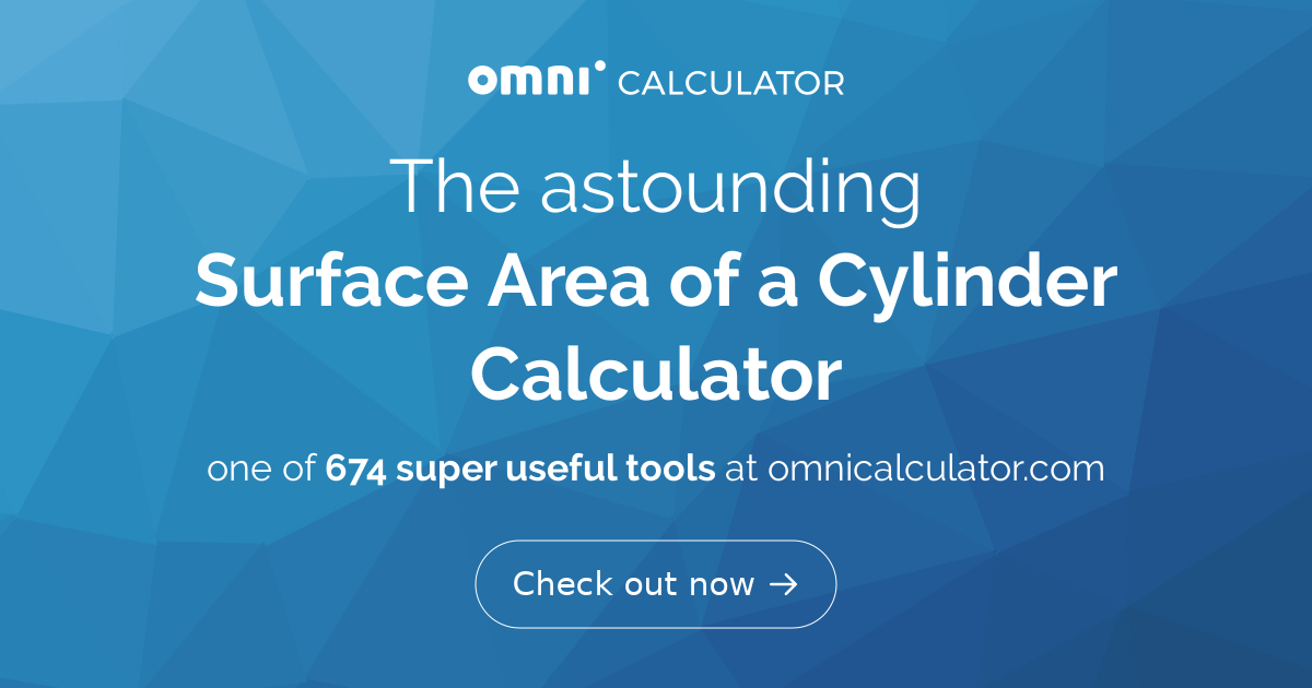 how to find surface area of a cylinder calculator