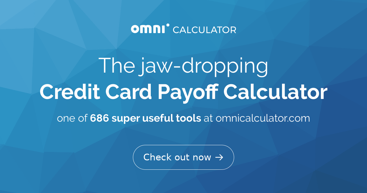 credit card payoff calculator omni