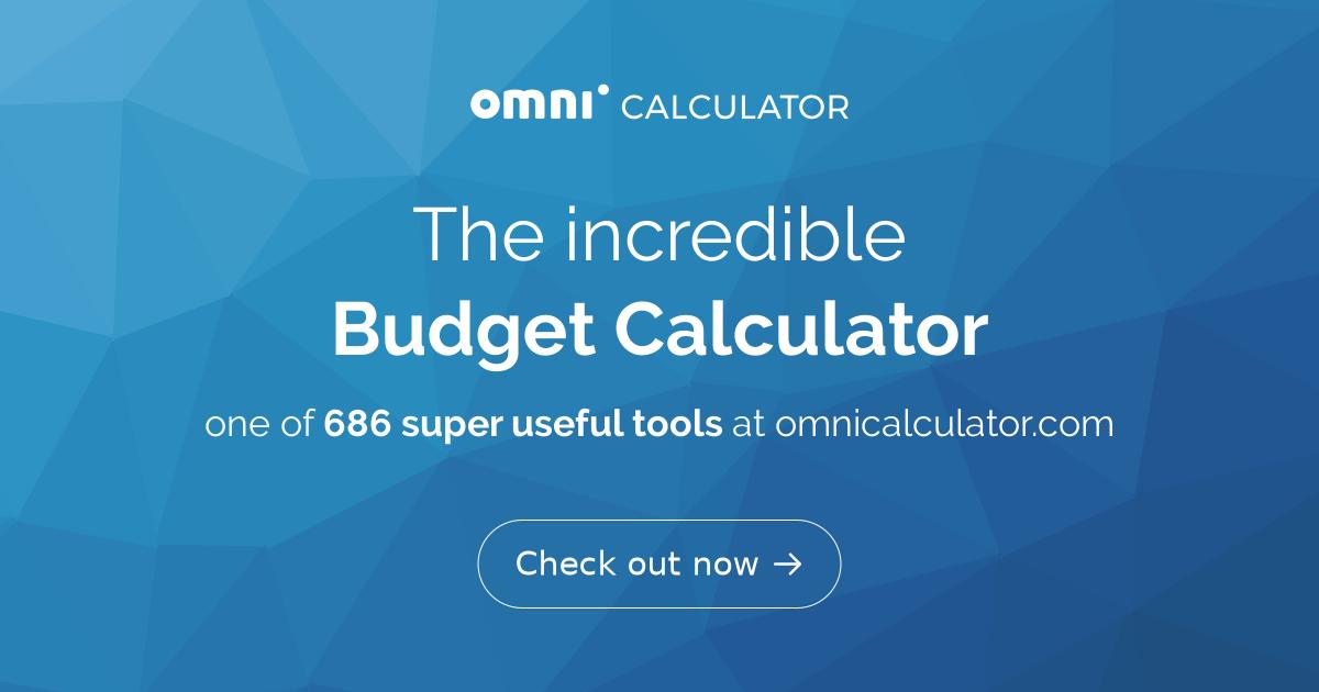 budget calculator omni