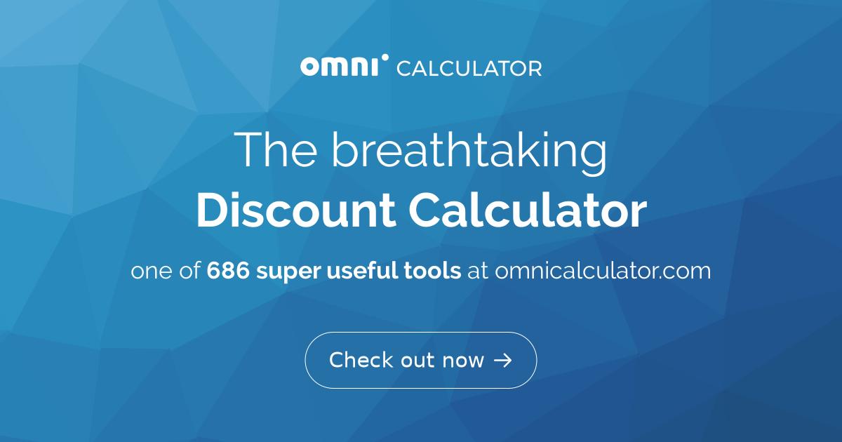 discount calculator omni