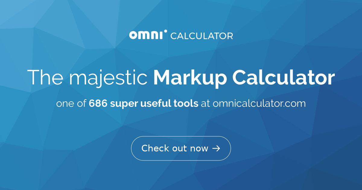 markup calculator omni