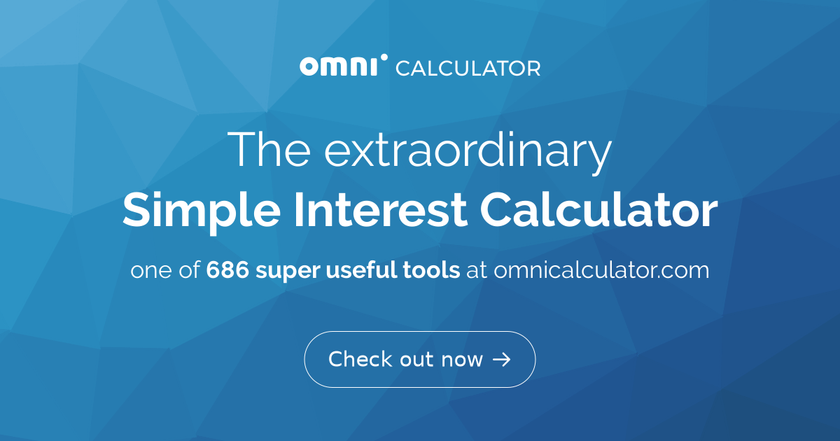 simple interest calculator omni