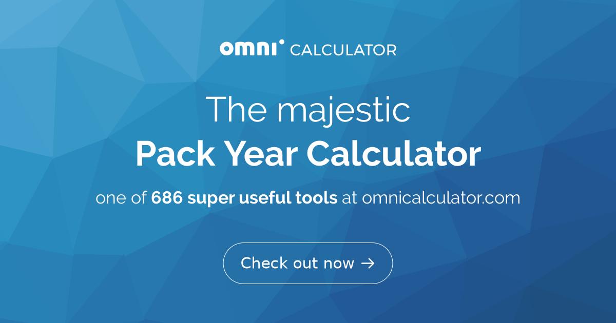 pack year calculator omni. Black Bedroom Furniture Sets. Home Design Ideas