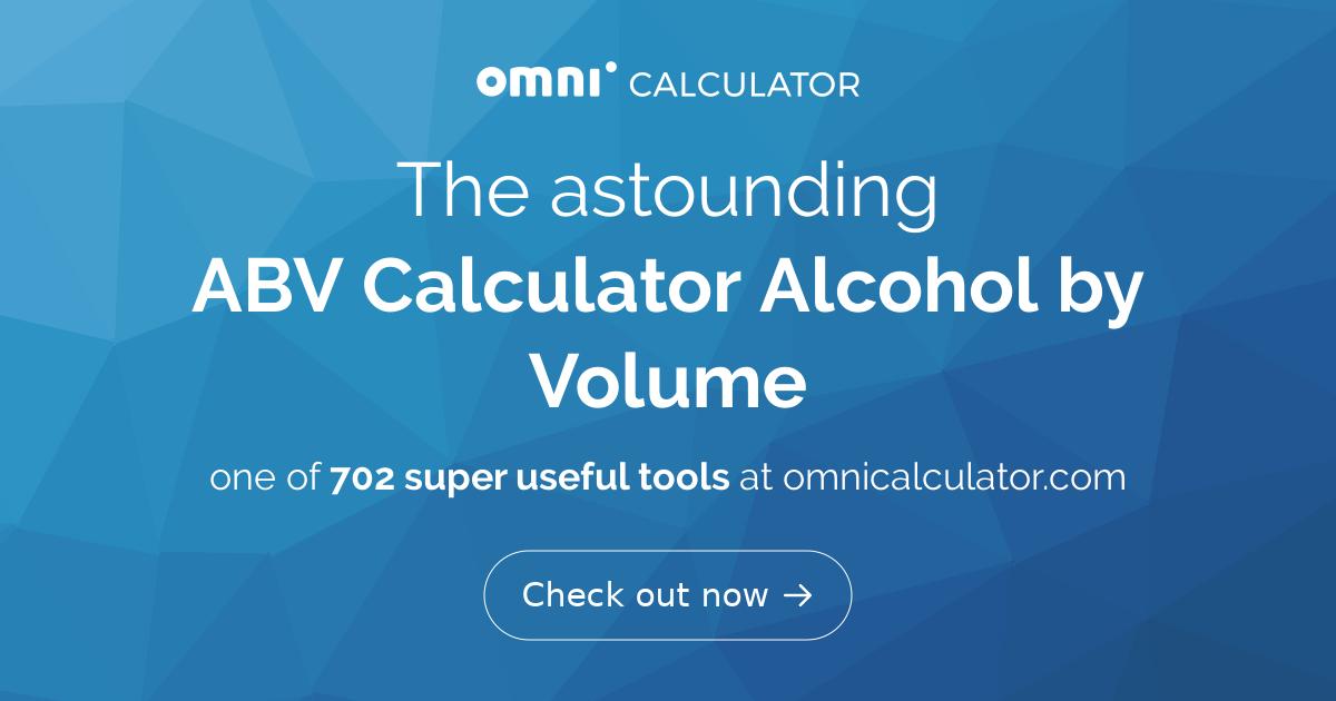 determine percentage of alcohol a liquor contains