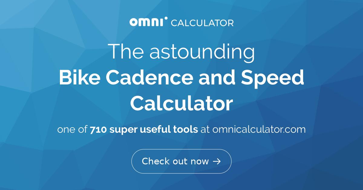 Bike Cadence And Speed Calculator Omni