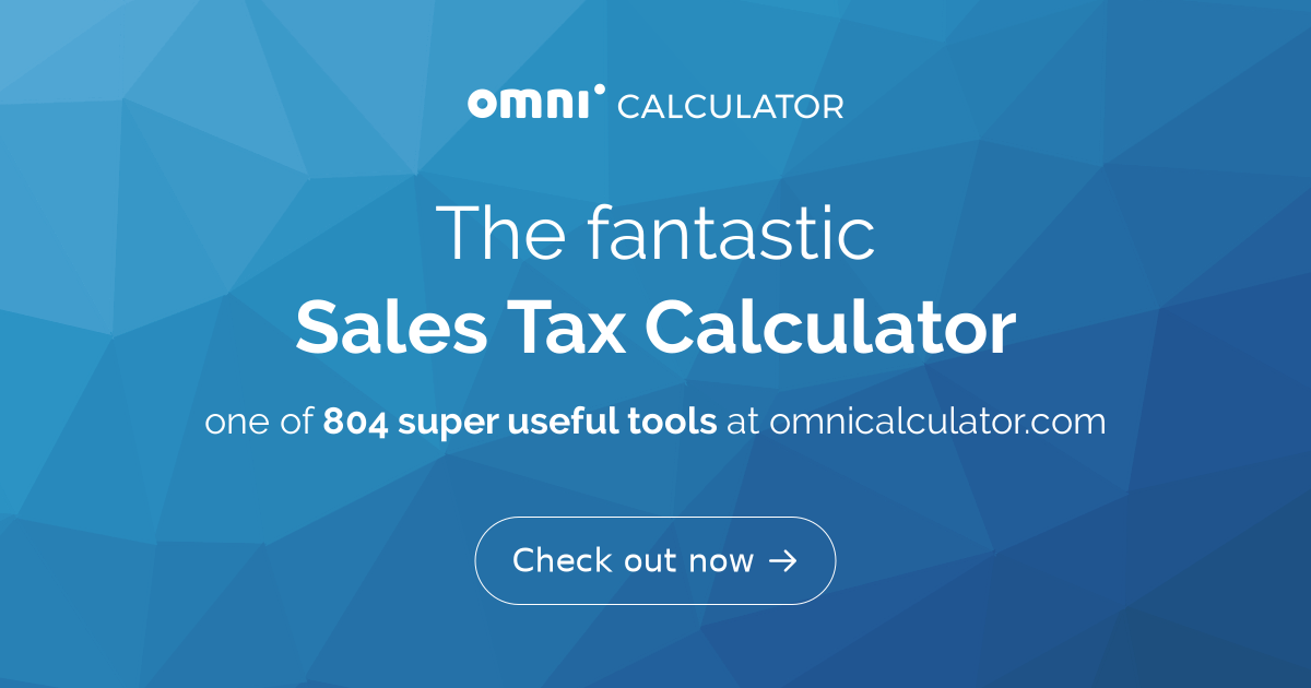 Florida Sales Tax Calculator >> Sales Tax Calculator Omni