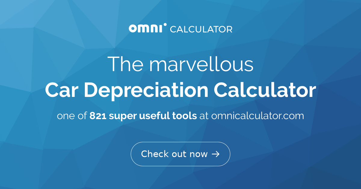 Car Depreciation Calculator Omni