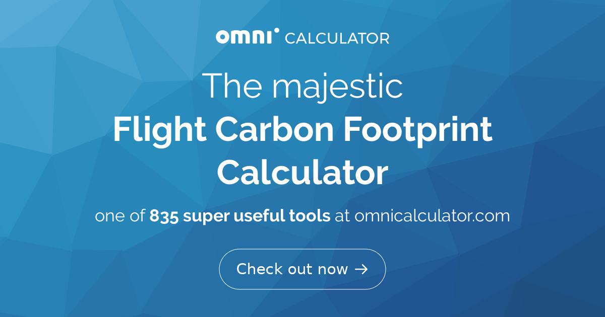 Flight Carbon Footprint Calculator Omni