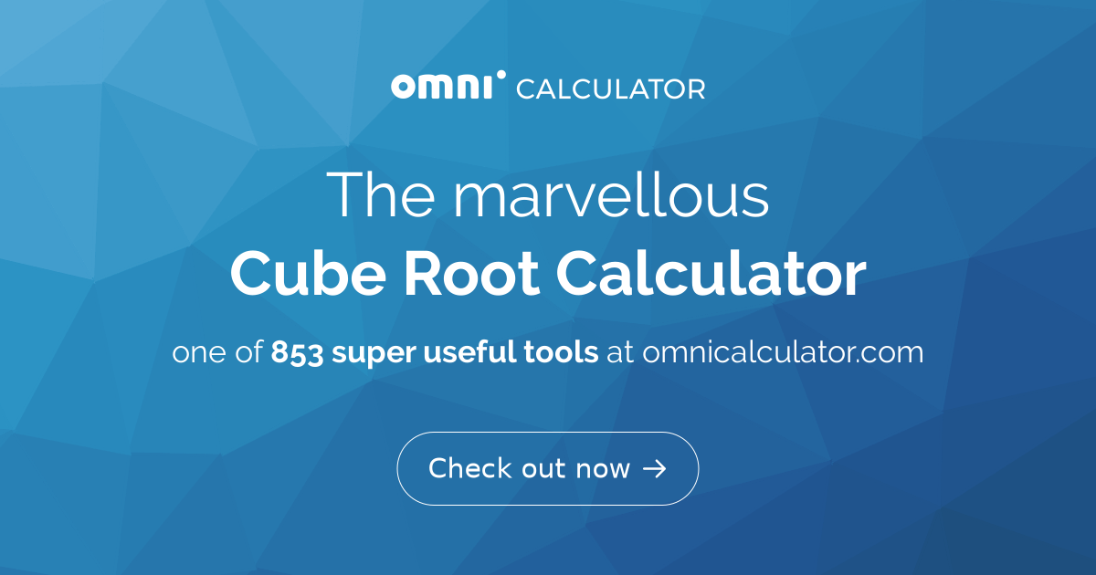 Cube Root Calculator | Definition | Function - Omni