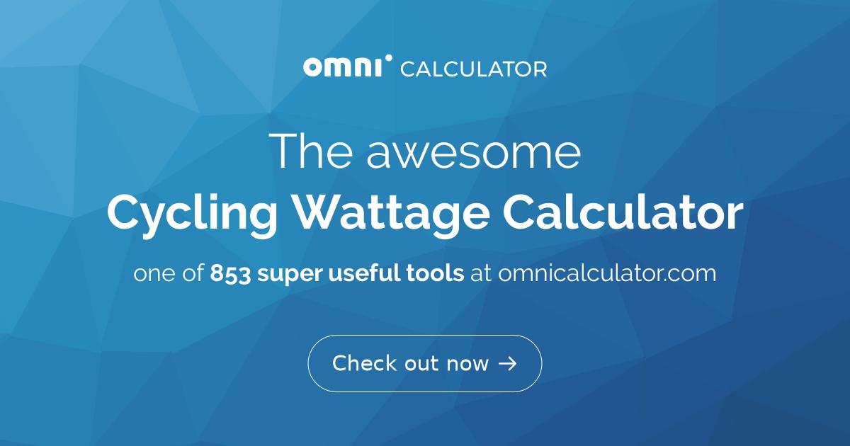 Cycling Wattage Calculator - Omni