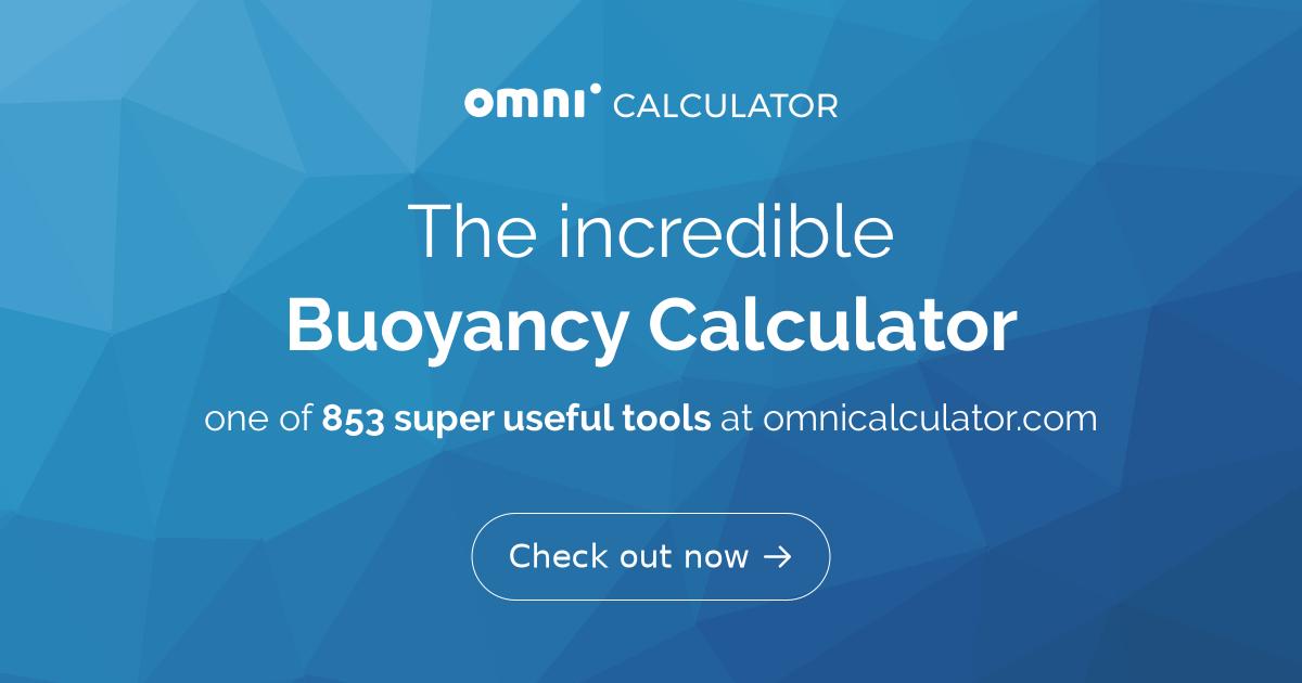 Buoyancy Calculator - Omni