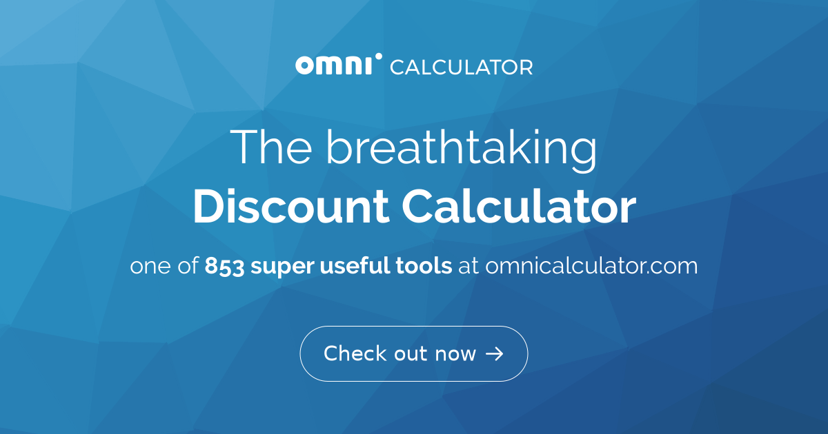 Discount Calculator - Find Out the Sale Price - Omni