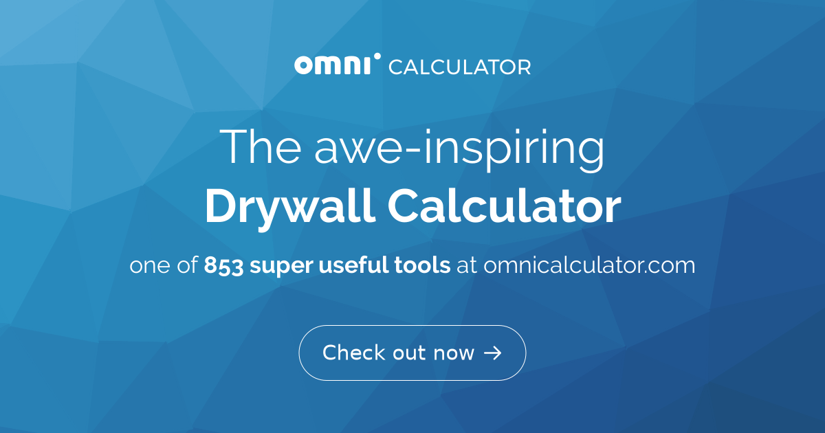 Drywall Calculator | How much drywall do I need? - Omni