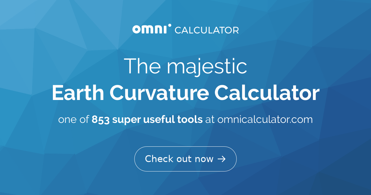 Earth Curvature Calculator - Omni