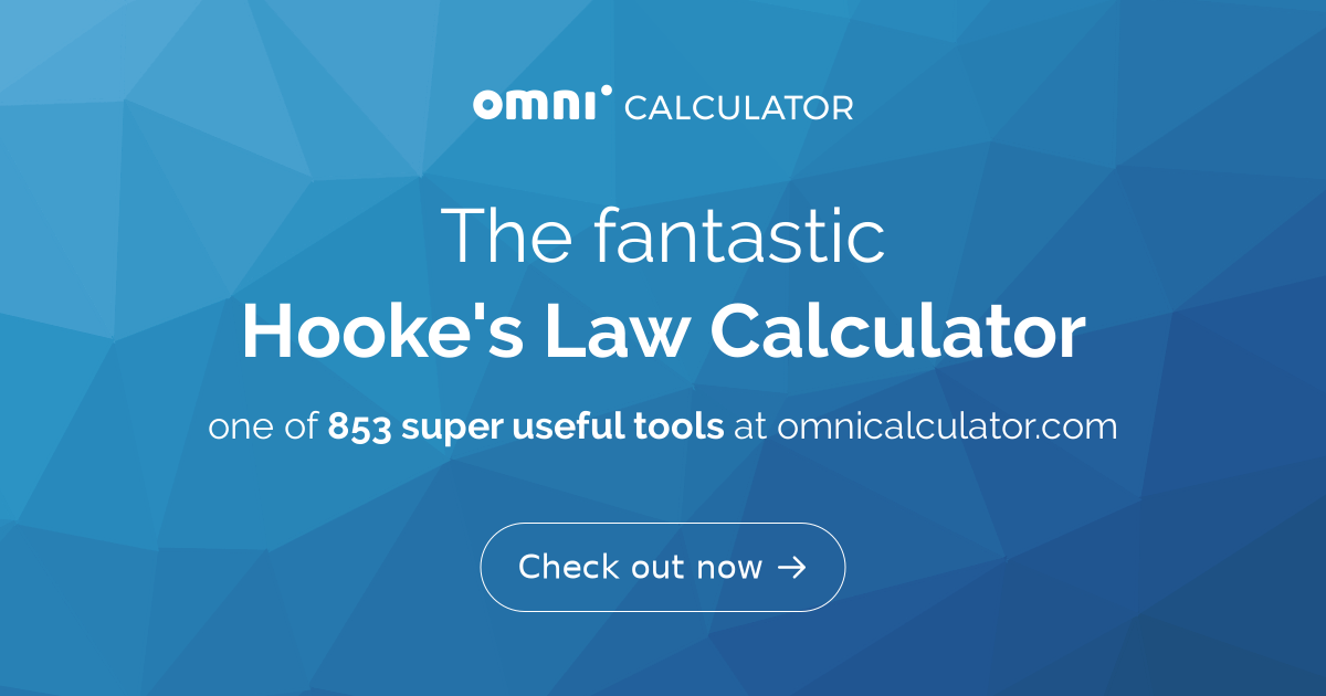Hooke's Law Calculator - Omni