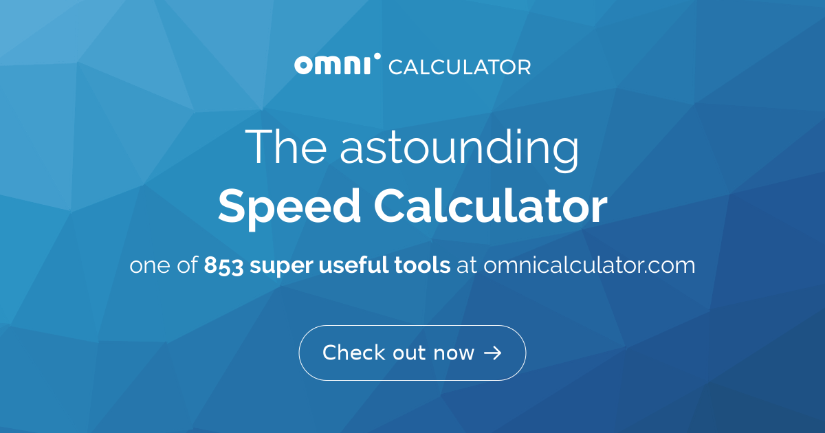 Speed Calculator - Omni