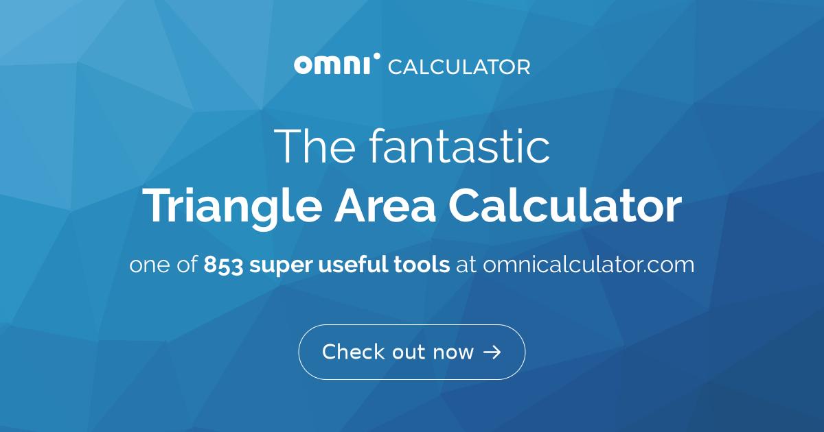 Triangle Area Calculator - Omni