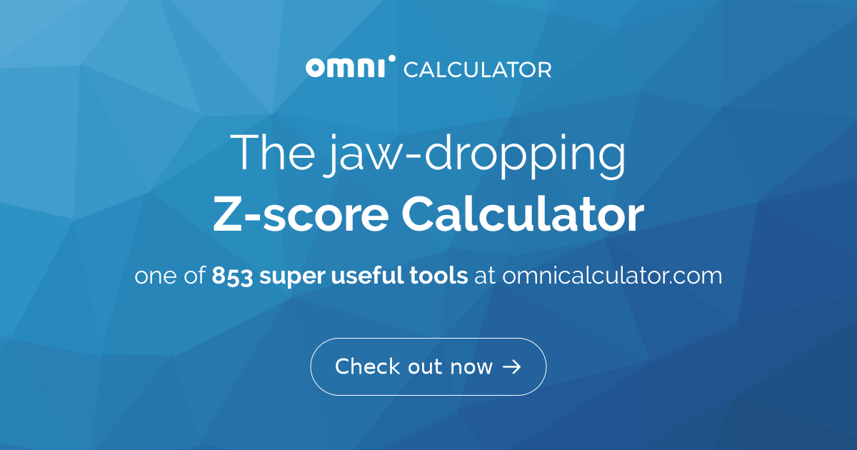 Z-score Calculator - Omni
