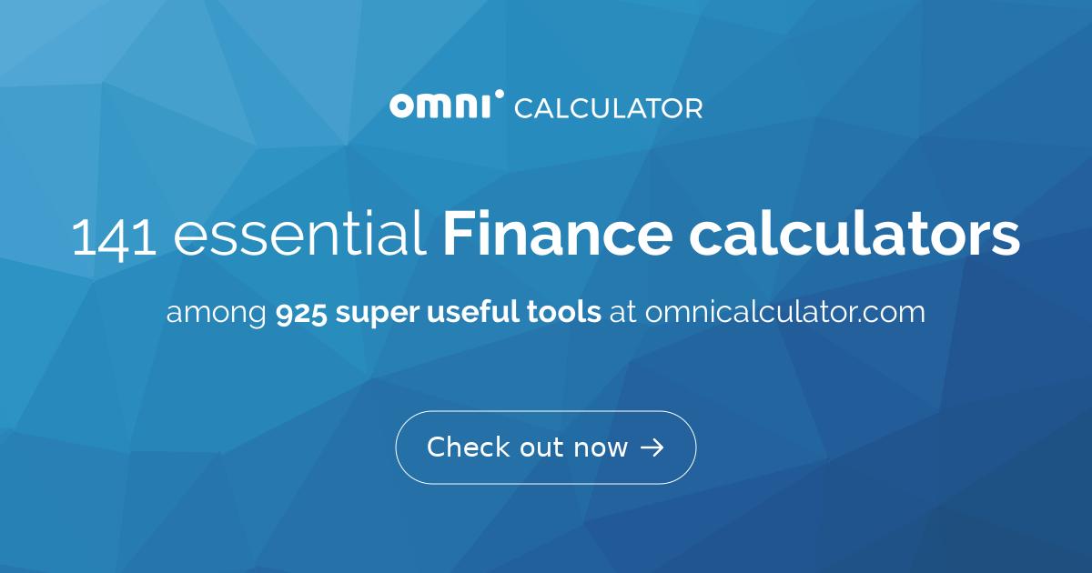 Finance Calculators - Omni